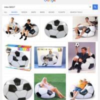 Jual sofa angin bola sports beanless bean bag intex 68557 murah dijamin Murah