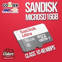 Jual Sandisk Ultra MicroSD 16 GB 48MB/S Class 10, Original, Bergaransi Murah