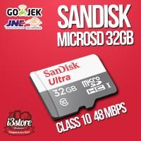 Jual Sandisk Ultra MicroSD 32 GB 48MB/S Class 10, Original, Bergaransi Murah