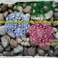 Bahan Scrapbook - Dies Cut Out HW-011 Roses Doily
