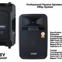 Speaker 15 Inch Pasif Ashley SS 400 P Original ( Sepasang)