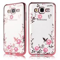 Silicon Flower Bling Casing Samsung J710/ J72016 Soft Case Diamond