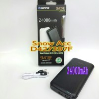 Jual HIPPO POWERBANK 24000mAh SMORE NEW PACK/ FREE KABEL MICRO USB/ GARANSI Murah