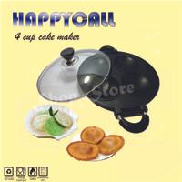 Cetakan Kue|Serabi Maker 4 Holes|HAPPYCALL 4 Cup Cake Maker+Buku Resep
