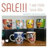 Mug Looney Tones Silvester Lola Bunny Tweety Daffy Duck Bugs Bunny Taz