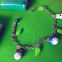 charm gelang totoro bracelet anak bracelet import clay beads leather
