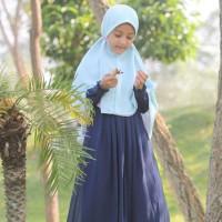 Hijab Alila Kids - Gamis Neo Perdana Kids Dongker (6,8)