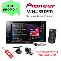 Paket Audio Tape Mobil Pioneer AVH-195DVd AVH195DVD + Kamera Mundur