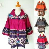 harga Atasan Wanita Batik Songket Vivian tops bigsize jumbo xxxl Tokopedia.com