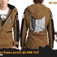 Jual Jaket Parka SNK Attack On Titan Canvas Jacket (JA SNK 43) Murah