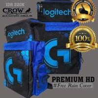 Tas Gaming Bag BACKPACK PREMIUM HD LOGITECH Sekolah Ransel Dota 2 CSGO