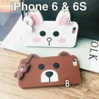 harga Line Silicone Soft Case Iphone 6 6s / Line Brown Cony Face -lgip6 Tokopedia.com