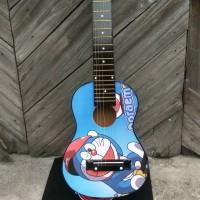 gitar lele akustik instrument motif gambar kartun