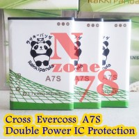 Baterai Cross Evercoss A7S Rakkipanda Double Power