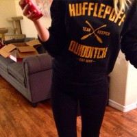 Jaket Zipper Hoodie Sweater Harry Potter Hufflepuff Quidditch