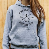 Jaket Zipper Hoodie Sweater Harry Potter Hufflepuff Quidditch - Misty