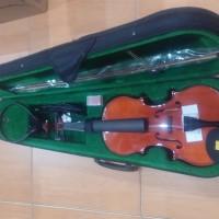 Biola / Violin Elektrik Verona 4/4 MV-012 WEQ + Bow + Tas + Rosin Ori