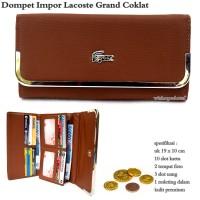 Dompet wanita lacoste grand import coklat