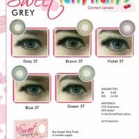 Sweety Tutty Fruity Softlens - Grey + Gratis Lenscase