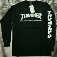 kaos/tshirt/baju lengan panjang pria thrasher - home clothing