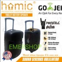 Speaker portable wireless 12 INCH (2 buah microphone) SUARA MANTAB