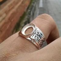emban cincin perak 925 handmade motif ukir batik