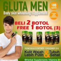 OBAT PEMUTIH KULIT PROMO GLUTA MEN / GLUTAMEN BODY WHITENING