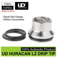 Jual Authentic UD Huracan L2 Wide Bore Spiral Drip Tip   rda rta driptip Murah