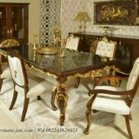 kursi makan jati luxury ( furniture, meja makan, kursi tamu, kursi )