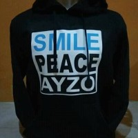 SWEATER HOODIE KEREN SMILE PEACE AYZO