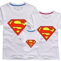 GROSIR KAOS COUPLE FAMILY NEW SUPERMAN PUTIH KELUARGA MODERN MURAH