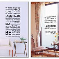 Wallpaper sticker House Rules Wall Stiker abjad huruf wallsticker kata