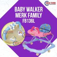 Harga baby walker kereta dorong bayi belajar jalan family f136l top | Pembandingharga.com