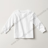 Kaos Polos Anak Lengan Panjang Kaos Anak Putih Cotton Combed 30s