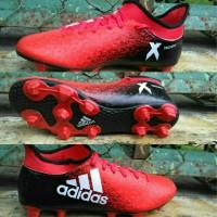 Sepatu Bola Adidas X.16 High Merah-Hitam list Putih Grade Ori