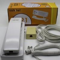 Paket Telepon Gantung Sahitel S21 (5m Kabel R-11 + 2 Jack)
