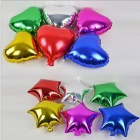 Balon Foil Love / Hati & Star / Bintang Mini