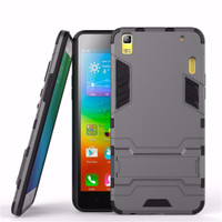 Case Lenovo A7000 / A7000 Plus Ironman Hybrid With Kick Stand