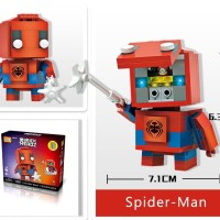 Jual Action Figure | Loz Mini BRICK HEADZ exclusive packaging | SPIDERMAN Murah