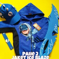 Jaket Anak Boboiboy Ice Blaze + Topi + Pedang (Pahe 2)