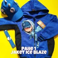 Jaket Anak Boboiboy Ice Blaze + Topi (Pahe 1)