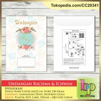 Undangan Pernikahan Single Hardcover Rachma & Ichwan Bekasi