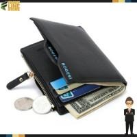 Jual Dompet Kulit Import Pria / Cowok- Leather Wallet Bogesi Hitam ORIGINAL Murah