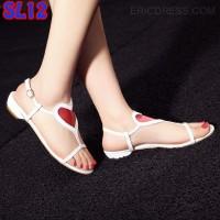 Jual Sandal Love Heart Mika Fashion (SL12 Putih) Murah