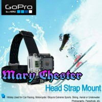 Jual Gopro Accessories Headband Head Strap Belt Mount For Sport Cam Murah