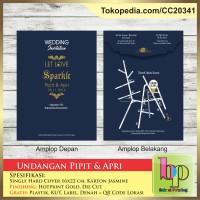 Undangan Pernikahan Single Hardcover Pipit & Apri - Cirebon