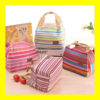 Lunch Bag Cooler Bag Tas Bekal Motif FREE 2 pcs Jelly ice Cooler