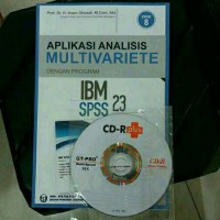 Buku APLIKASI ANALISIS MULTIVARIETE IBM SPSS 23 + CD