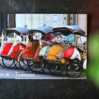 Jual Becak transportasi Indonesia TRADISIONAL KARTU POS POSTCARD SURAT Murah