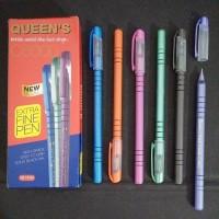 pulpen faster queen c6000 warna hitam ballpoint pen bolpoin pena black